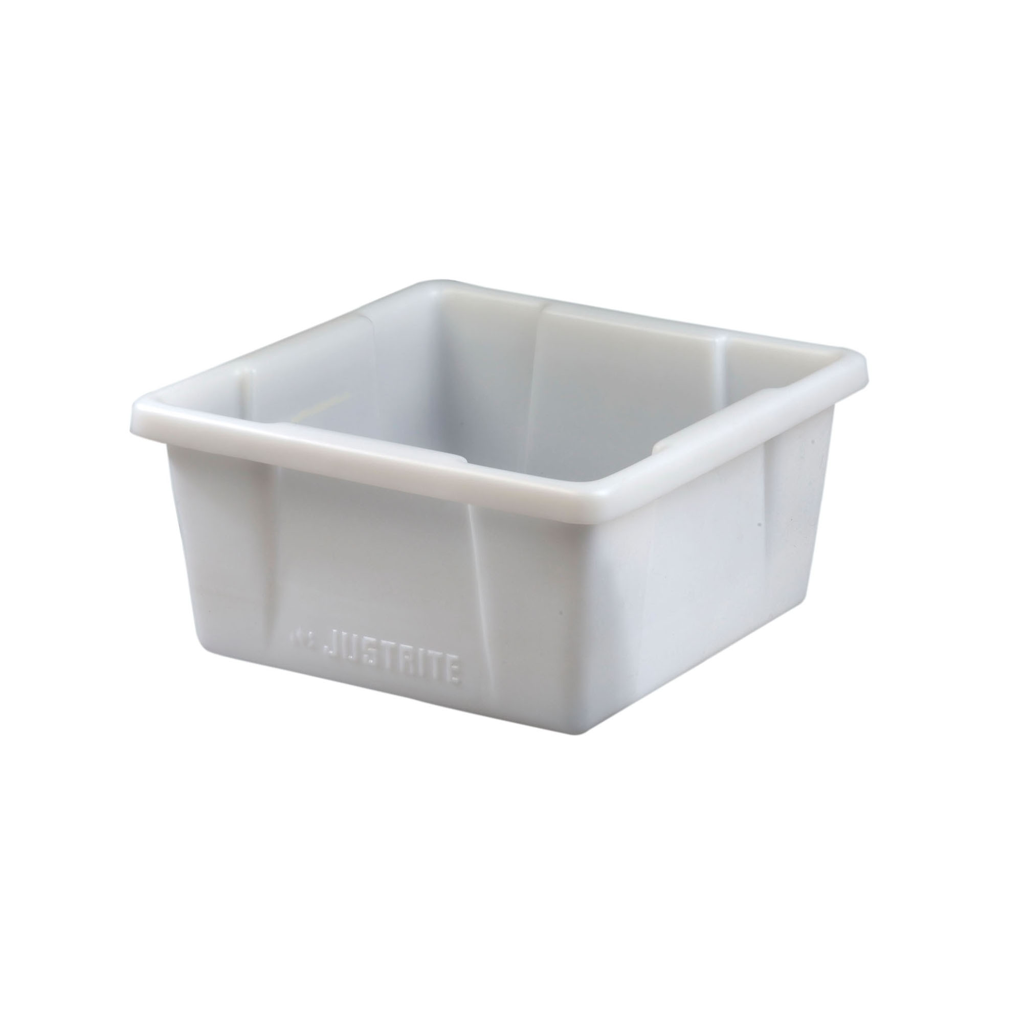 Justrite® 84003 Square Spill Basin, 5 gal, 14-7/8 in L x 14-7/8 in W x 7-5/8 in H, Polyethylene