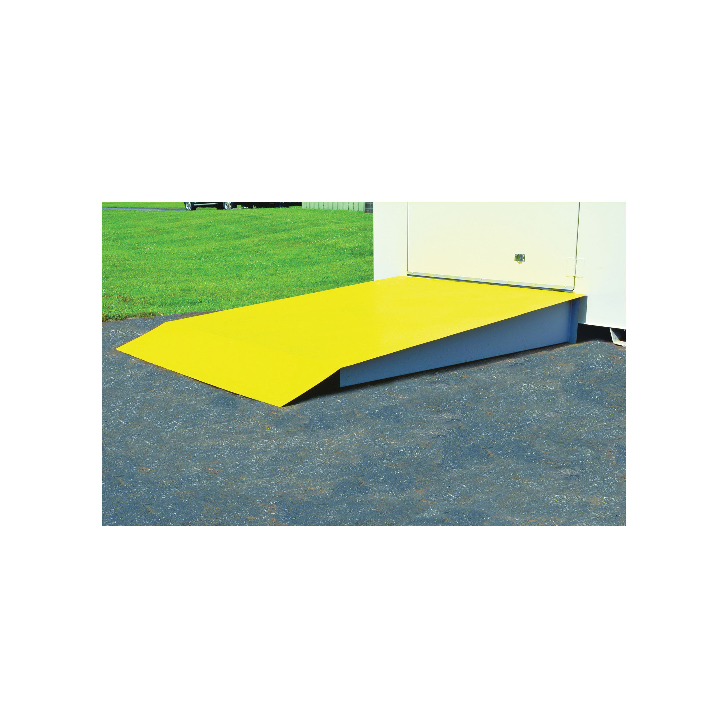 Justrite® 915003 Loading Ramp, For Use With 4 to 16 Drum Lockers, Steel, Yellow