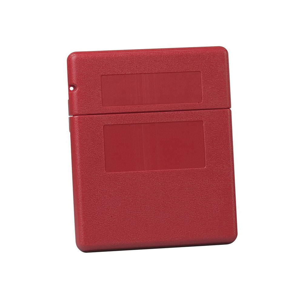 Justrite® S23303 Medium Document Storage Box, 2-1/4 in Exterior, 1.6 in Interior D x 11-1/2 in Interior, 12-1/2 in Exterior H, Polyethylene, Red