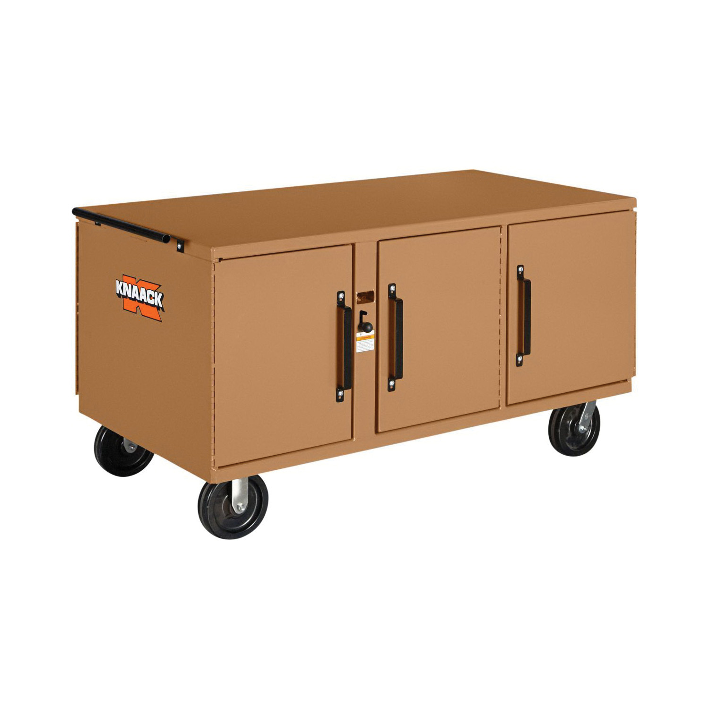 KNAACK® WAR WAGON® 62 Rolling Work Bench, 34 in H x 32 in W x 62 in D, 3400 lb Load, Tan