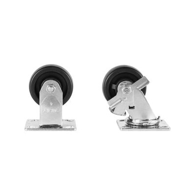 KNAACK® 495 Caster Set With Brakes, 1600 lb Load Capacity, For Use With Model 32, 36 and 42 JOBMASTER® Chest, Solid Polypropylene HD