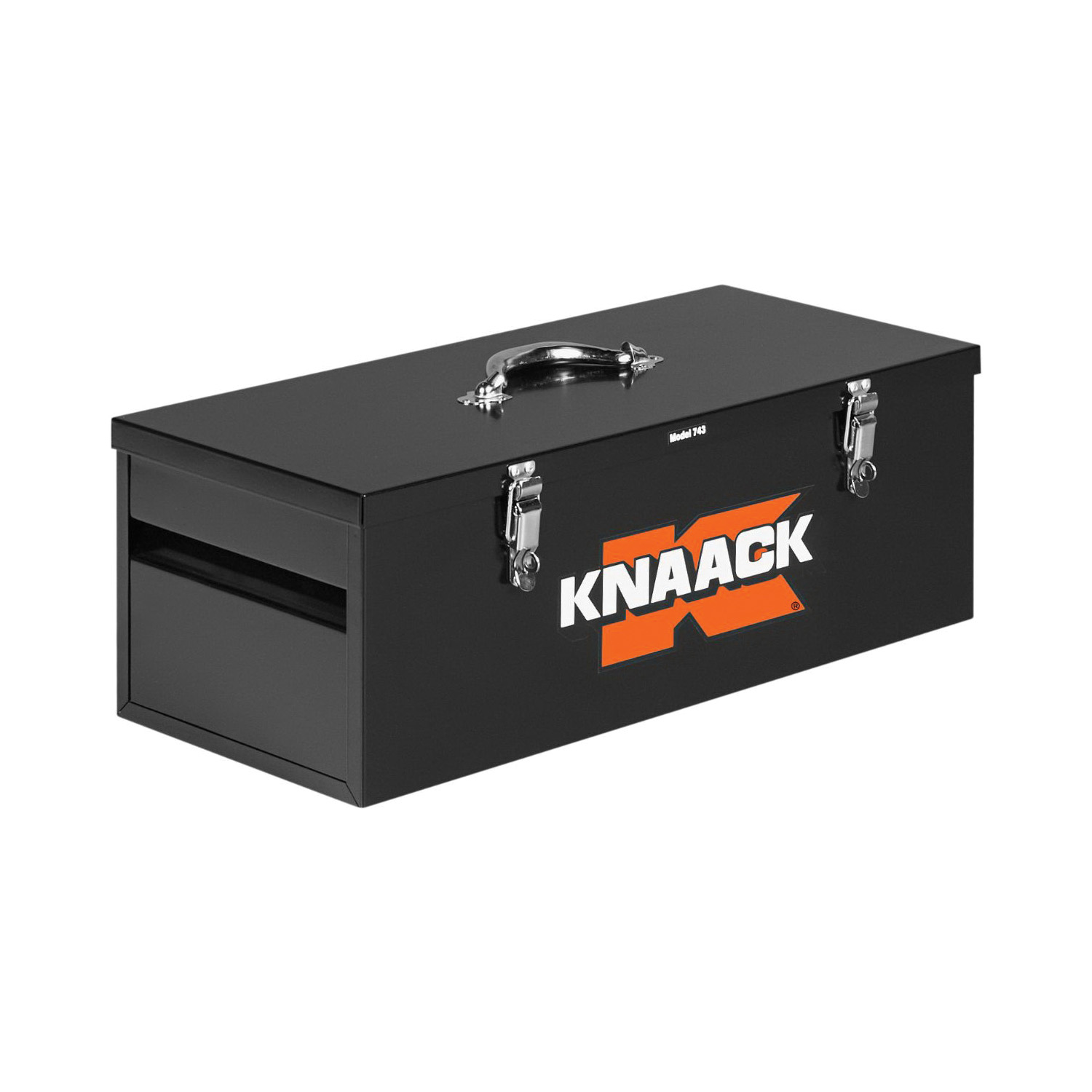 KNAACK® 743 Hand Tool Box, 9-1/2 in x 11 in W x 26 in D, 1.5 cu-ft Storage, Steel