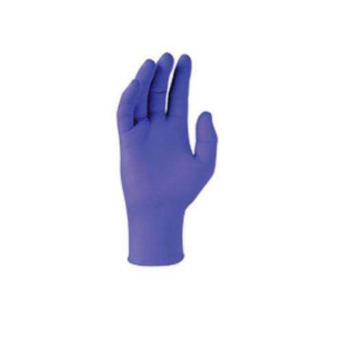 Kimberly Clark* NITRILE* Disposable Gloves, Nitrile Polymer, Purple, 9-1/2 in L, Powder Free, Textured, 6 mil THK, Application Type: Examedical Grade, Ambidextrous Hand