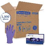Kimberly-Clark* 55081 NITRILE* Disposable Gloves, S, Nitrile Polymer, Purple, 9-1/2 in L, Non-Powdered, Textured, 6 mil THK, Application Type: Exam/Medical Grade, Ambidextrous Hand