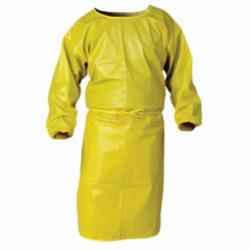 KleenGuard* 09830 A70 Spray Protection Smock, 2XL, Yellow, 1.5 mil Polyethylene Coated Fabric, 52 in L, Front Tie Closure, Specifications Met: TAA Complaint, NFPA 99
