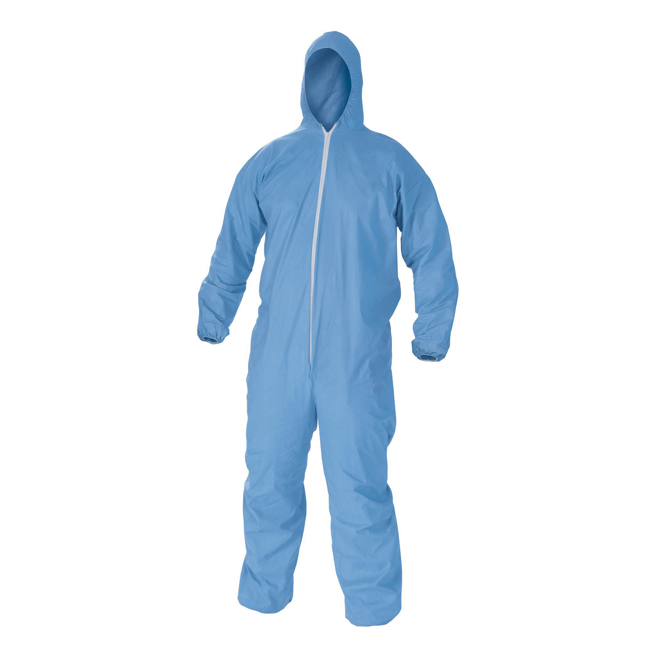 KleenGuard™ 45325 A65 Anti-Static Disposable Flame Resistant Coverall, 2XL, Blue, Polyester Spun, 50 to 52 in Chest, 32 in L Inseam