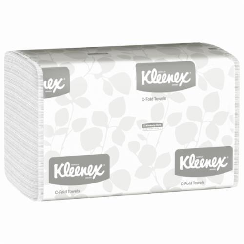 Kleenex® 01500 C-Fold Towel, 150 Sheets, 1 Plys, Paper, White, 10-1/8 in W
