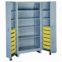 LYON® 1127 All Welded Bin Cabinet, 27 in L x 39 in W x 76 in H, 12 Bins