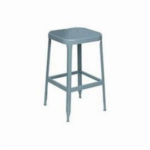 LYON® 1850 All Welded Fixed Height Stool With Steel Glide Feet, 26 in H, Steel, Putty/Dove Gray/Wedgewood Blue - UPDATED