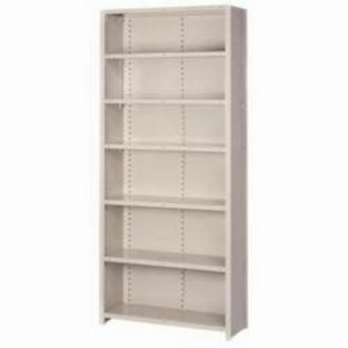 LYON® 8039H 8000 Add-On Heavy Duty Closed Shelving Section, 5 Shelves, 84 in H x 36 in W x 24 in D, 900 lb Shelf