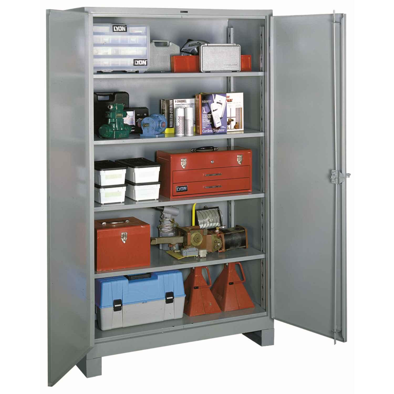 LYON® BB1120 1100 All-Welded Storage Cabinet, 1450 lb, 82 in H x 48 in W x 24 in D