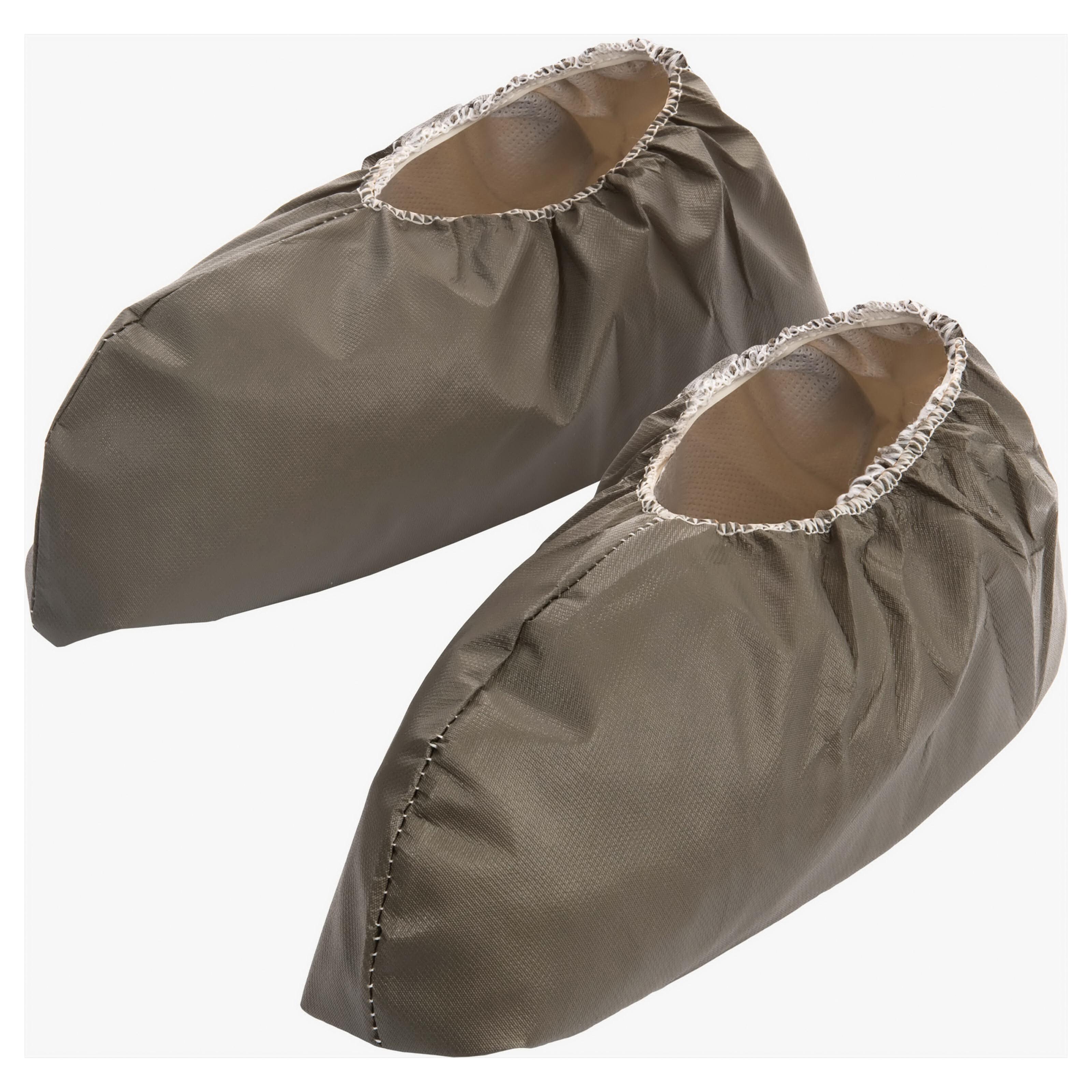 Lakeland® 901NSP-XL Non-Skid Shoe Cover, XL Fits Shoe, White, Elastic Ankle Closure, MicroMax® NS Outsole, Resists: Chemical and Splash, ASTM D3776, D5034, D1117, D3787, D737, F903, EN1149-5:2006