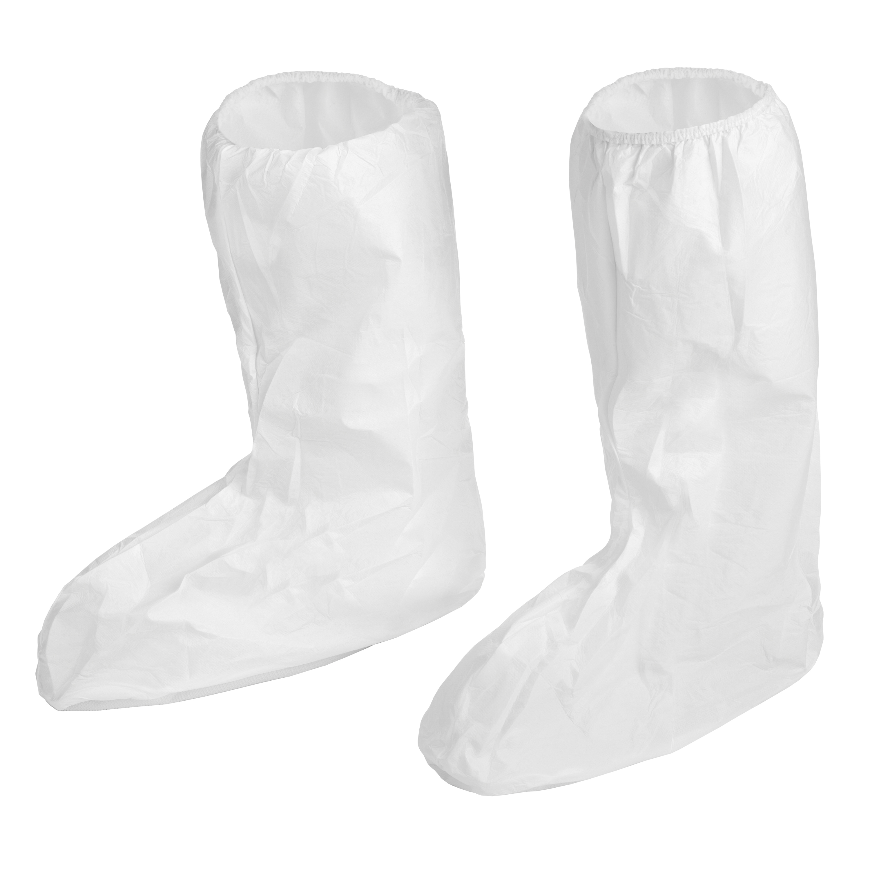 Lakeland® CTL903-2X Disposable Non-Skid Boot Cover, 2XL Fits Shoe, White, Elastic Ankle Closure, MicroMax® NS Outsole, Resists: Chemical and Splash, Specifications Met: ASTM D3776, D5034, D1117, D3787, D737, F903, EN1149-5:2006