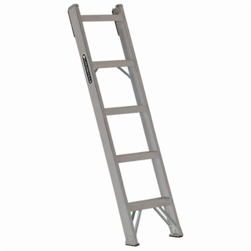 Louisville® AH1005 AH1000 Type IA Extra Heavy Duty Professional Single Shelf Extension Ladder, 5 ft H x 15-2/3 in W, 300 lb Load, 2 ft 10 in Top Step, Aluminum