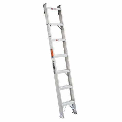 Louisville® AH1007 AH1000 Type IA Extra Heavy Duty Professional Single Shelf Extension Ladder, 7 ft H x 15-2/3 in W, 300 lb Load, 4 ft 9 in Top Step, Aluminum