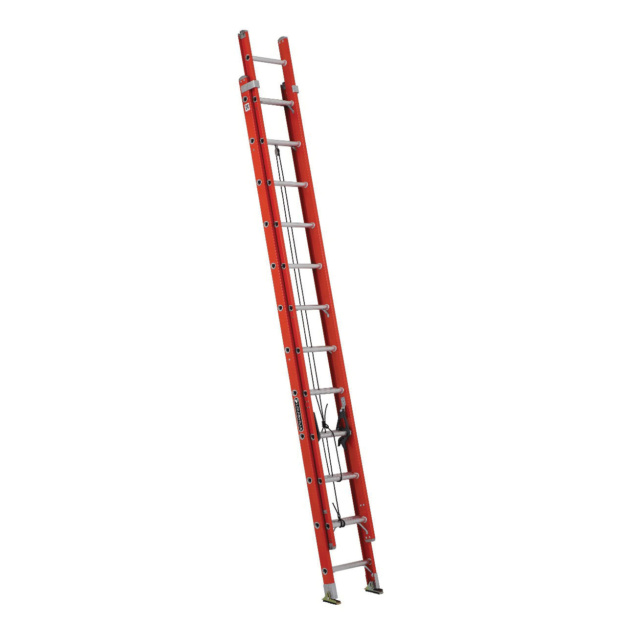 Louisville® FE3224 FE3200 Multi-Section Extension Ladder, 148 in OAL, ANSI Code: 14.4, 300 lb Load, Fiberglass, 12 in Adjustable Increments