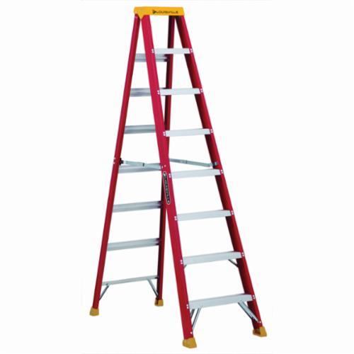Louisville® L-3016-08 Type IA Non-Conductive Weather Resistant Step Ladder, 8 ft H Ladder, 300 lb Load, 7 Steps, Fiberglass, A14.5