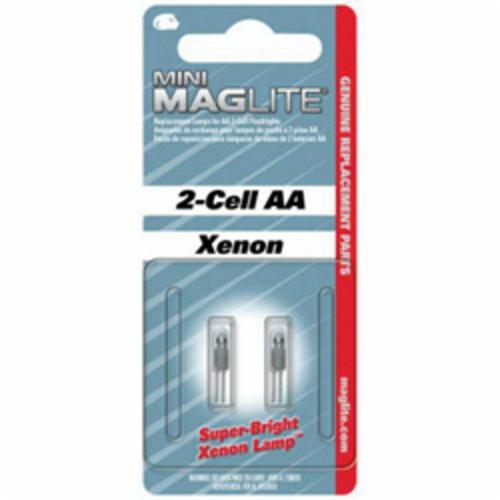 MAGLITE® 459-LM2A001 Mini Replacement Lamp, Xenon Bulb, Push-In Base, 14 Lumens Lumens