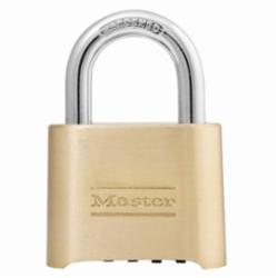 Master Lock® 175 Combination Resettable Safety Padlock, Keyless Key, Laminated Steel Body, 5/16 in Dia Shackle, Combination Locking Mechanism