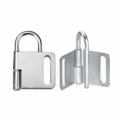 Master Lock® 418 Heavy Duty Lockout Hasp, 4 Padlocks, 9/32 in Max Dia Padlock Shackle, Steel