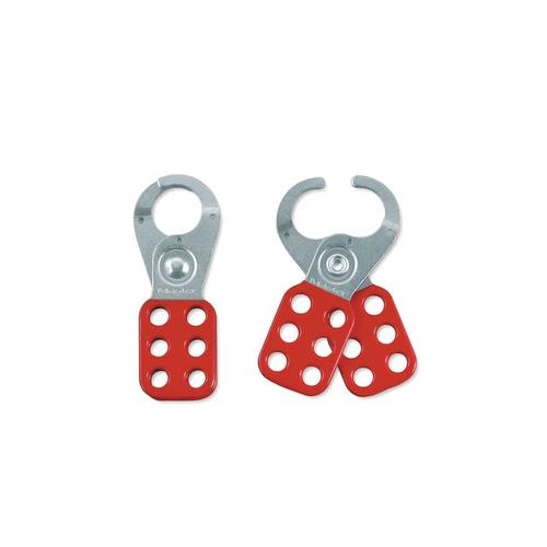 Master Lock® 420 Scissor Snap-On Lockout Hasp, 6 Padlocks, 9/32 in Max Dia Padlock Shackle, Steel