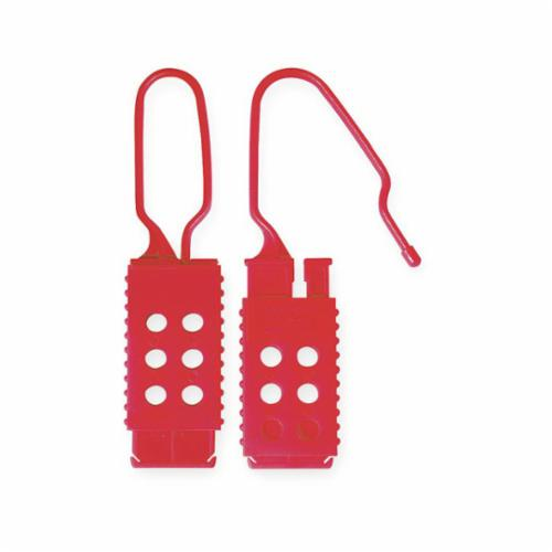 Master Lock® 428 Non-Conductive Lockout Hasp, 6 Padlocks, 9/32 in Max Dia Padlock Shackle, Plastic