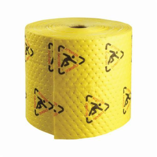 SPC® MAXX® BrightSorb® CH15P Medium Weight High Visibility Perforated Absorbent Roll, 150 ft L x 15 in W x 2-Ply THK, 20 gal Absorption Capacity, Spunbond-Meltblown Polypropylene