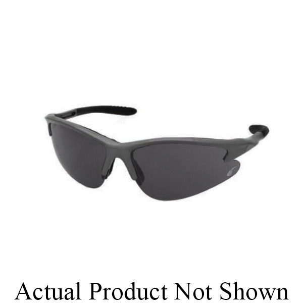 U.S. Safety™ Solaris™ 97105 General Purpose Safety Glasses, Charcoal Nylon Frame, Specifications Met: ANSI Z87.1