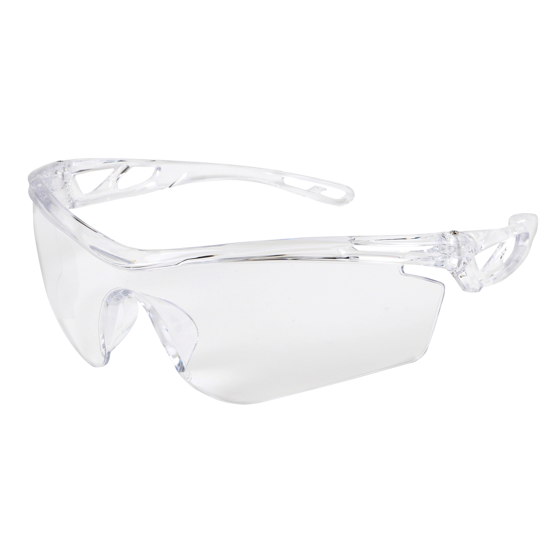 MCR Safety CL410PF Checklite® CL4 Single Lens Safety Glass, MAX6® Anti-Fog Lens Coating, Clear Lens, Hollowed Out/Lightweight Frame, Polycarbonate Lens, ANSI Z87.1