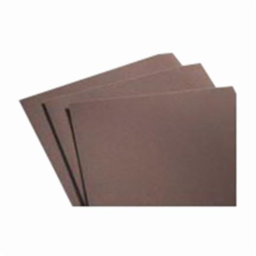 Norton® Metalite® 66261126337 K225 Coated Sanding Sheet, 11 in L x 9 in W, P150 Grit, Fine Grade, Aluminum Oxide Abrasive, Cotton Backing