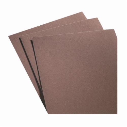 Norton® Metalite® 66261126338 K225 Coated Sanding Sheet, 11 in L x 9 in W, P120 Grit, Fine Grade, Aluminum Oxide Abrasive, Cloth Backing