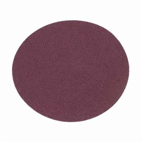 Norton® Metalite® 66261136630 R228 Large Diameter PSA Coated Abrasive Disc, 12 in Dia Disc, 40 Grit, Extra Coarse Grade, Aluminum Oxide Abrasive, Cotton Backing