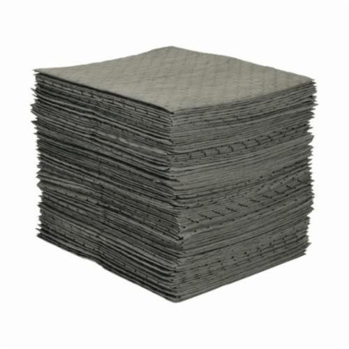 SPC® MRO Plus® MRO100 3-Ply Dimpled Heavy Weight Medium Linting Perforated Absorbent Pad, 19 in L x 15 in W, 26 gal Absorption, Polypropylene