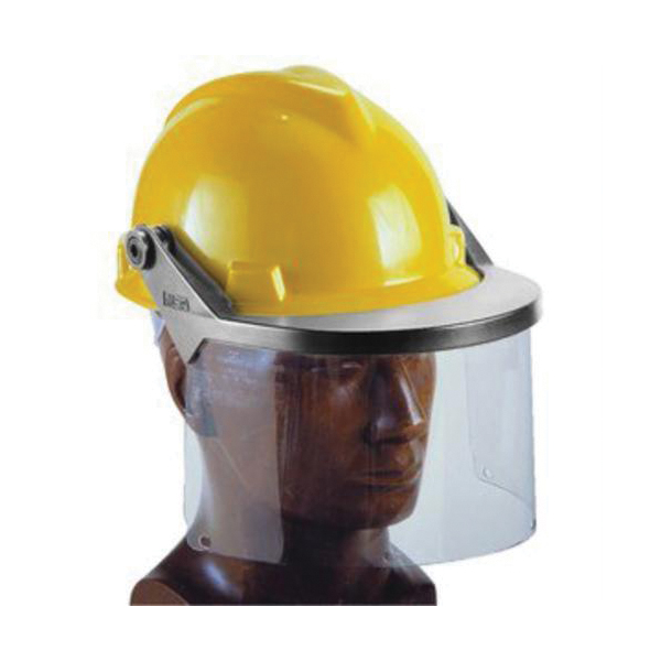 MSA 10021614 Faceshield Frame With Brackets, For Use With V-Gard® Slotted Caps, Polypropylene, Gray, ANSI Z89.1 2003