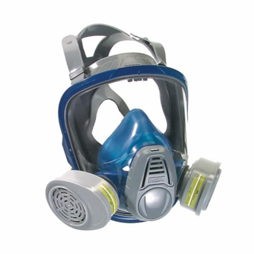 MSA 10028995 Advantage® 3230 Full Face Respirator, M, 4-Point Suspension, Bayonet Connection, Resists: Dust, Odor, Particulate, Toxic Atmosphere Non-IDLH and Welding Fumes