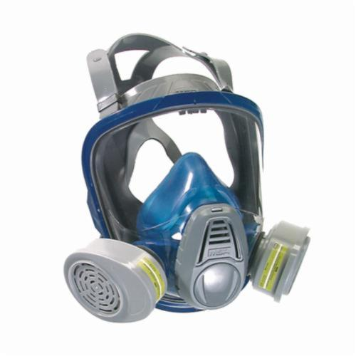 MSA 10028997 Advantage® 3230 Full Face Respirator, L, 4-Point Suspension, Bayonet Connection, Resists: Dust, Odor, Particulate, Toxic Atmosphere Non-IDLH and Welding Fumes