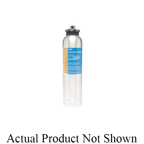 MSA Econo-Cal™ 10048280 Calibration Testing Gas, Composition: 1.45% CH4/15% O2/60 ppm CO/20 ppm H2S, 34 L Cylinder Capacity, For Use With Standard 4-in-1 Detector