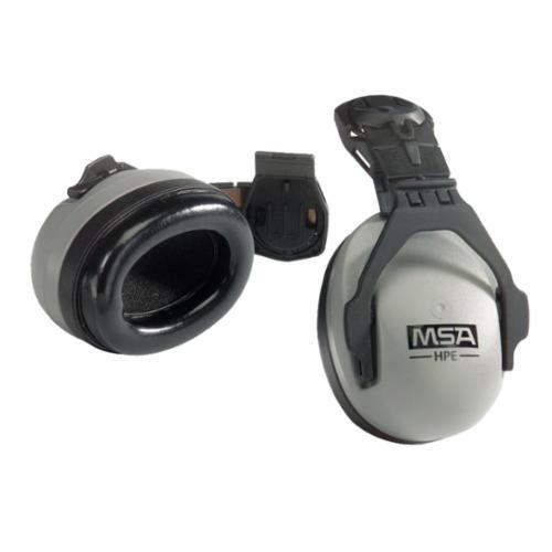 MSA 10061272 Sound Control™ Dielectric Passive Hard Hat Earmuffs, 27 dB Noise Reduction, Black/Gray, ANSI S3.19-1974