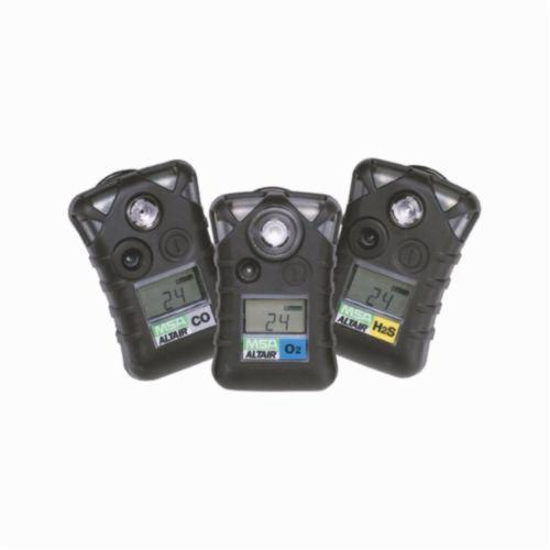 MSA Altair® 10092521 Single-Gas Detector, Hydrogen Sulfide (H2S) Gas, 0 to 100 ppm Detection, Audible/Vibration/Visual Alarm, Lithium Battery