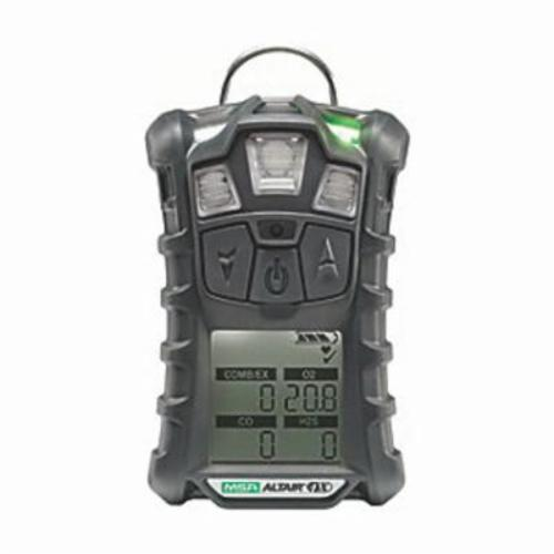 MSA ALTAIR® 10107602 Multi-Gas Detector, LEL, O2, CO, H2S, Charcoal Gas, 0 to 30% Oxygen, 0 to 1999 ppm Carbon Monoxide, 0 to 200 ppm Hydrogen Sulfide, 0 to 100% LEL Detection, Audible/Vibration/Visual Alarm, Lithium Polymer Battery, Rubber Housing