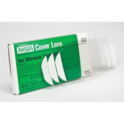 MSA 456975 Ultravue® Lens Cover, For Use With OptimAir® 6HC PAPR Emergency Respiratory Protection with 10031343, 10031342, 10031344 Facepieces, Clear