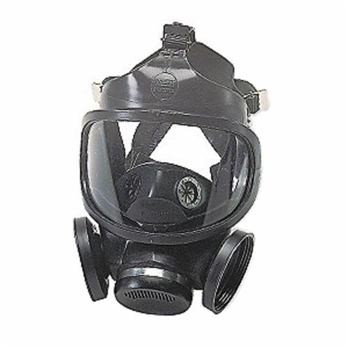 MSA 471310 Ultra-Twin® Full Face Respirator, L, 5-Point Suspension, Thread Connection, Resists: Toxic Chemicals