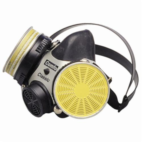 MSA Comfo Classic® 808073 Standard Half Mask Respirator, L, Single Strap Suspension, Thread Connection