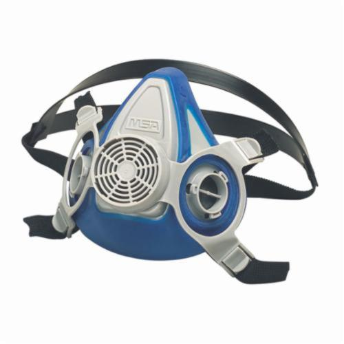 MSA 815700 Advantage® 200LS Half Mask Respirator, L, 2-Piece Neckstrap Suspension, Bayonet Connection, Resists: Fume, Mists and Gas