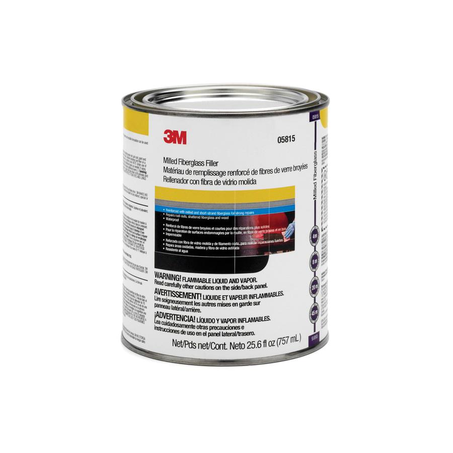 3M™ Marson® 051131-05815 Mar-Glass® 2-Component 2-Part Short Strand Fiberglass Reinforced Filler, 1 qt Container, Part A: Viscous/Part B: Paste Form, Part A: Green/Part B: Red