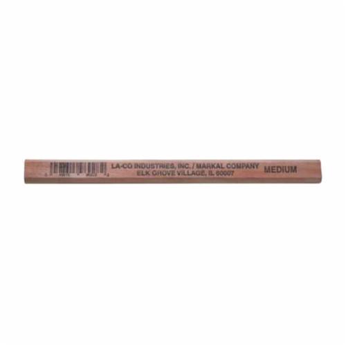 Markal® 096928 Carpenter's Pencil, Medium Lead, 7 in L, Wood Barrel