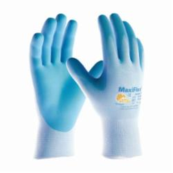 ATG® MaxiFlex® Active 34-824 General Purpose Gloves, Coated, Microfoam Nitrile Palm, Nylon, Light Blue, Continuous Knit Wrist Cuff, Microfoam Nitrile Coating, Resists: Abrasion, Cut, Puncture and Tear, Lycra® Lining, Seamless Knit