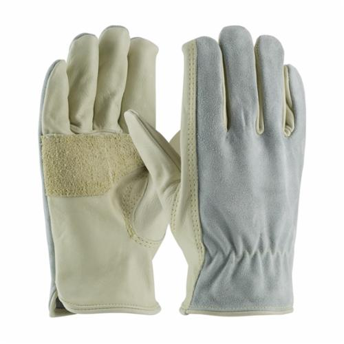 PIP® Maximum Safety® 122-169 Ergonomic Anti-Vibration Gloves, Split Cowhide Leather, Slip-On/Open Cuff