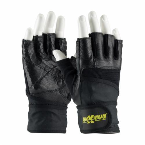 PIP® Maximum Safety® 122-AV20 Ergonomic Anti-Vibration Gloves, Cotton/Elastane/PVC/Terrycloth