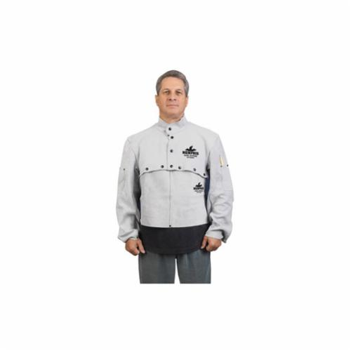 Memphis 38100MWL Cape Sleeve, L, Gray, Side Split Leather